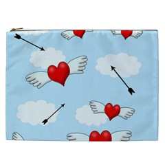 Love Hunting Cosmetic Bag (xxl)  by Valentinaart