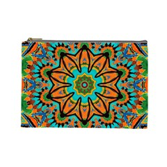 Color Abstract Pattern Structure Cosmetic Bag (large)  by Amaryn4rt