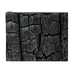 Coal Charred Tree Pore Black Cosmetic Bag (xl)