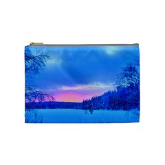 Winter Landscape Snow Forest Trees Cosmetic Bag (medium)  by Amaryn4rt