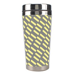 Yellow Washi Tape Tileable Stainless Steel Travel Tumblers by AnjaniArt