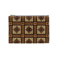Batik Flower Brown Cosmetic Bag (medium)