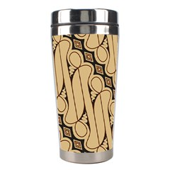 Batik Parang Rusak Seamless Stainless Steel Travel Tumblers by AnjaniArt