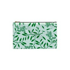 Leaves Foliage Green Wallpaper Cosmetic Bag (small)