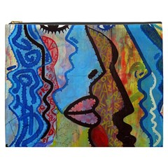 Graffiti Wall Color Artistic Cosmetic Bag (xxxl)  by Amaryn4rt