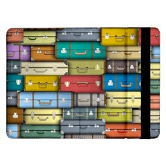 Colored Suitcases Samsung Galaxy Tab Pro 12 2  Flip Case by AnjaniArt