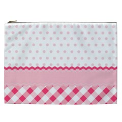 Cute Cartoon Decorative Pink Cosmetic Bag (xxl)  by AnjaniArt