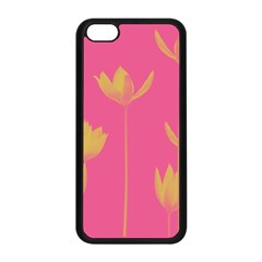 Flower Yellow Pink Apple Iphone 5c Seamless Case (black) by AnjaniArt