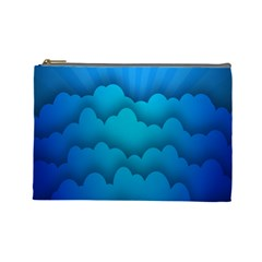 Blue Sky Jpeg Cosmetic Bag (large)  by AnjaniArt