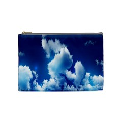 Blue Sky Clouds Cosmetic Bag (medium)  by Jojostore