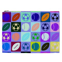 Sports Ball Cosmetic Bag (xxl)  by Jojostore