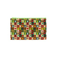 Pattern Christmas Patterns Cosmetic Bag (xs) by Amaryn4rt