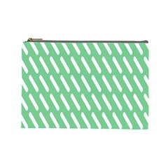 Green White Desktop Cosmetic Bag (large)  by Jojostore