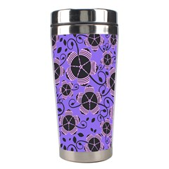 Flower Floral Purple Stainless Steel Travel Tumblers by Jojostore