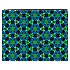 Flower Green Cosmetic Bag (xxxl)  by Jojostore