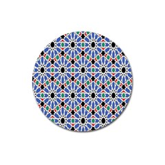 Background Pattern Geometric Magnet 3  (round) by Amaryn4rt
