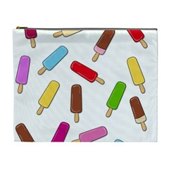 Ice Cream Pattern Cosmetic Bag (xl) by Valentinaart