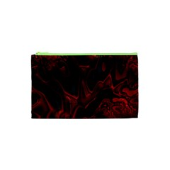 Fractal Red Black Glossy Pattern Decorative Cosmetic Bag (xs) by Amaryn4rt