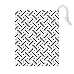Geometric Pattern Drawstring Pouches (extra Large) by Amaryn4rt
