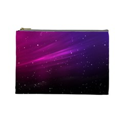 Purple Wallpaper Cosmetic Bag (large)  by Amaryn4rt