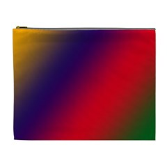 Rainbow Two Background Cosmetic Bag (xl)
