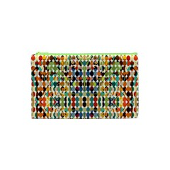 Retro Pattern Abstract Cosmetic Bag (xs) by Amaryn4rt