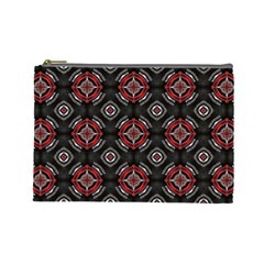 Abstract Black And Red Pattern Cosmetic Bag (large)  by Amaryn4rt
