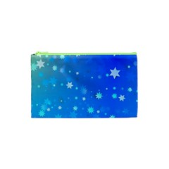 Blue Hot Pattern Blue Star Background Cosmetic Bag (xs) by Amaryn4rt