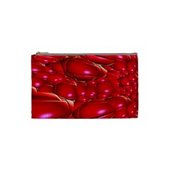Red Abstract Cherry Balls Pattern Cosmetic Bag (small)  by Amaryn4rt