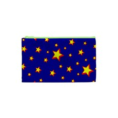 Star Blue Sky Yellow Cosmetic Bag (xs) by AnjaniArt