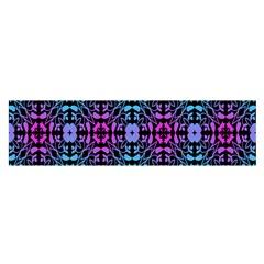 Star Flower Background Pattern Colour Satin Scarf (oblong) by AnjaniArt