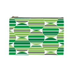 Mint Green Cosmetic Bag (large)  by AnjaniArt
