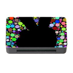 Prismatic Negative Space Comic Peace Hand Circles Memory Card Reader With Cf