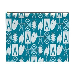 Act Symbols Cosmetic Bag (xl) by AnjaniArt