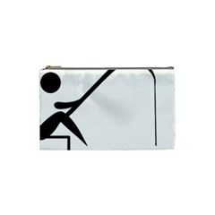 Angling Pictogram Cosmetic Bag (small)  by abbeyz71