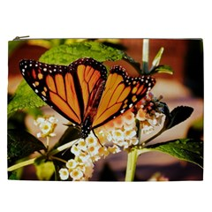 Monarch Butterfly Nature Orange Cosmetic Bag (xxl)  by Amaryn4rt