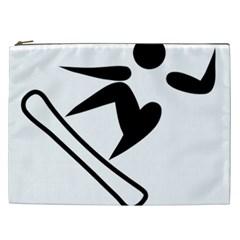 Snowboarding Pictogram  Cosmetic Bag (xxl)  by abbeyz71