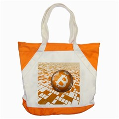 Network Bitcoin Currency Connection Accent Tote Bag