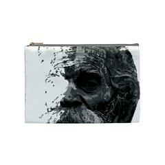 Grandfather Old Man Brush Design Cosmetic Bag (medium)