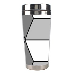 Diamond Cubes Gray Stainless Steel Travel Tumblers by Jojostore