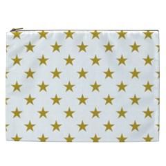 Gold Stars Cosmetic Bag (xxl)  by Jojostore