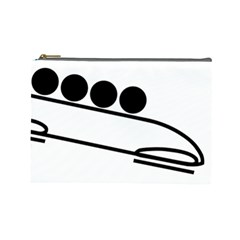 Bobsleigh Pictogram Cosmetic Bag (large)  by abbeyz71