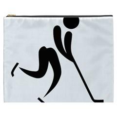 Ice Hockey Pictogram Cosmetic Bag (xxxl)  by abbeyz71