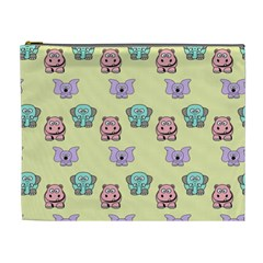 Animals Pastel Children Colorful Cosmetic Bag (xl) by Nexatart