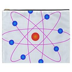 Atom Model Vector Clipart Cosmetic Bag (xxxl)