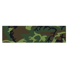 Camouflage Green Brown Black Satin Scarf (oblong) by Nexatart