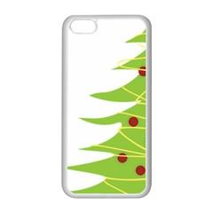 Christmas Tree Christmas Apple Iphone 5c Seamless Case (white) by Nexatart