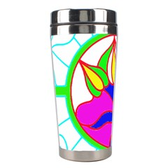 Pattern Template Stained Glass Stainless Steel Travel Tumblers by Nexatart