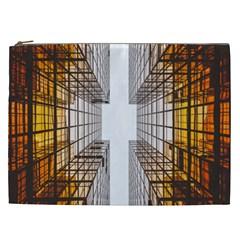Architecture Facade Buildings Windows Cosmetic Bag (xxl)  by Nexatart