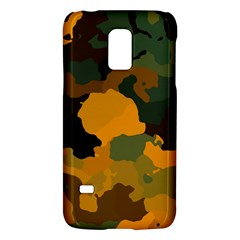 Background For Scrapbooking Or Other Camouflage Patterns Orange And Green Galaxy S5 Mini by Nexatart